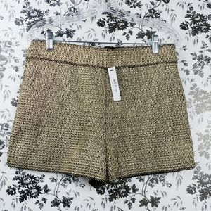 Ark & Co gold chain mail hot pants shorts sz L